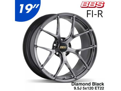 "BBS FI-R 19"" 9.5J 5x120 ET22 鋁圈 Diamond Black(DB)"