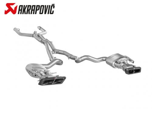 AKRAPOVIC EVOLUTION LINE 中尾段(鈦合金+CARBON尾) MERCEDES-BENZ C205 C63 2015-