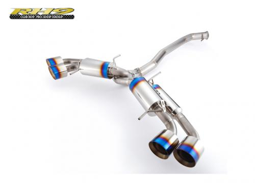 CLUB RH9 FULL TITAN MUFFLER 中尾段-90MM(無閥門) NISSAN GT-R R35 2009-2014