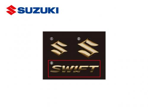 SUZUKI 原廠金色SWIFT尾門MARK SUZUKI SWIFT 2017-