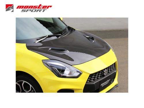 MONSTER SPORT CARBON 引擎蓋 SUZUKI SWIFT SPORT 2018-
