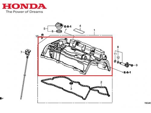 HONDA Cover Assy,Cylinder 汽缸蓋組 CIVIC TYPE R FK8 2017-