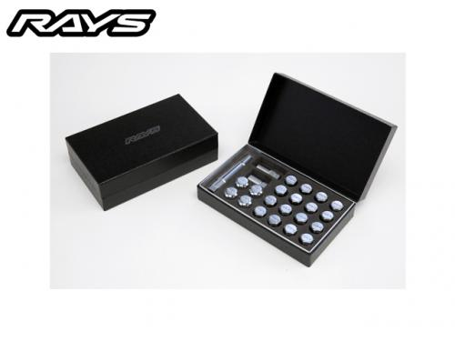 RAYS 19HEX DOUBLE LOCK&NUT SET 雙防盜螺絲組(銀 M12X1.5)