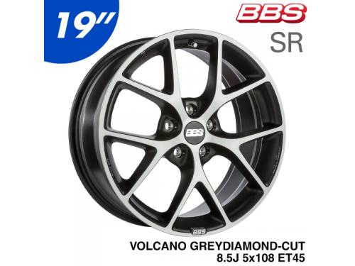"BBS SR 19"" 8.5J 5x108 ET45 鋁圈 VOLCANO GREY DIAMOND-CUT"