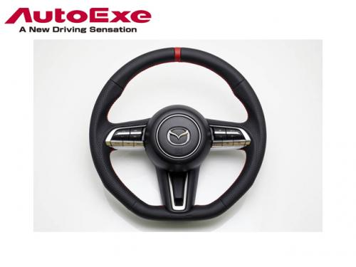 AUTOEXE SPORTS STEERING WHEEL 紅線方向盤 MAZDA3 BP 2019-