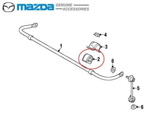 MAZDA BUSH STABILIZER 後防傾桿橡皮 MAZDA6 GJ 2014-