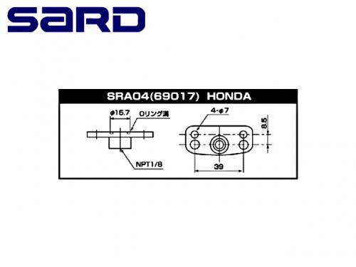 SARD FUEL REGULATOR ADAPTOR 汽油調壓閥轉接座 HONDA 車型用