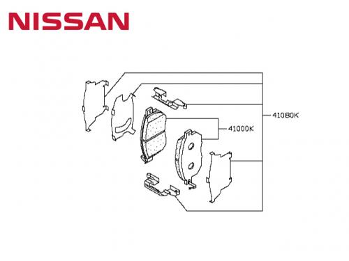 HARDWARE KIT DISC BRAKE PAD, FRONT 來令片制震片(前) NISSAN MURANO 2007-2014