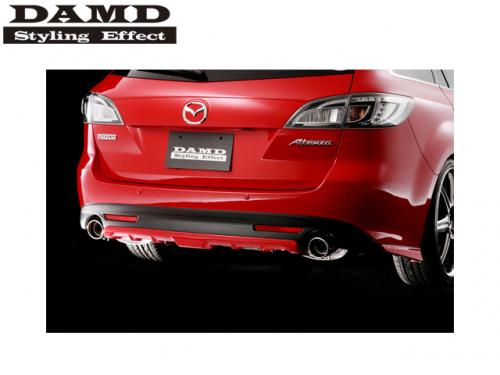 DAMD REAR UNDER CENTER SKIRT 後保中央飾板(黑) MAZDA6 GH 2009-2013