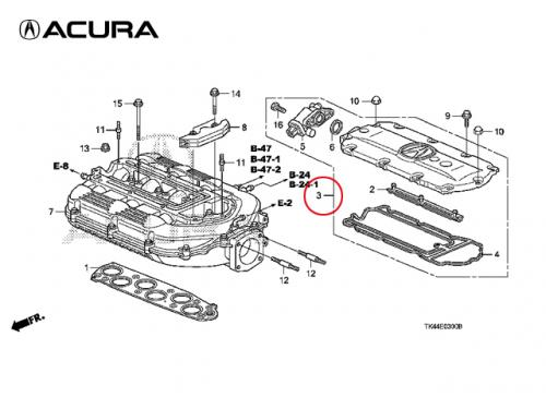 COVER, IN. MANIFOLD (UPPER) 進氣歧管上蓋 ACURA TSX 2010-2013