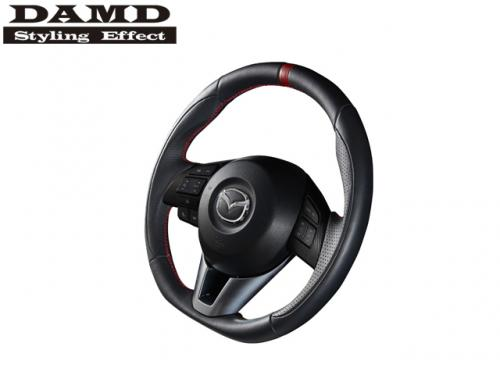DAMD STEERING WHEEL RED STITCH 紅線方向盤 MAZDA CX-5 2013-2017 NAPPA皮革