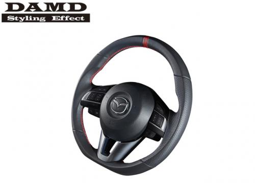 DAMD STEERING WHEEL RED STITCH 紅線方向盤 MAZDA6 GJ 2014- NAPPA皮革