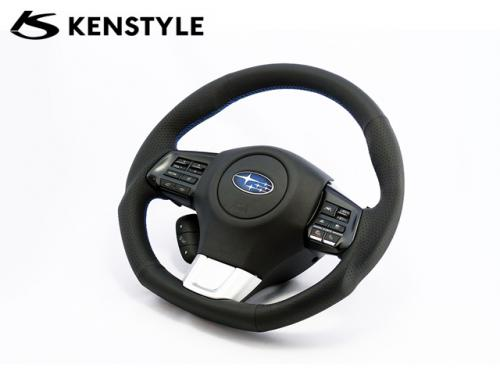 KENSTYLE STEERING WHEEL BLUE STICH B-TYPE 藍線方向盤 SUBARU WRX 2014-