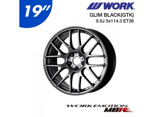 "WORK EMOTION M8R 19"" 9.5J 5x114.3 ET38 鋁圈 GLIM BLACK"