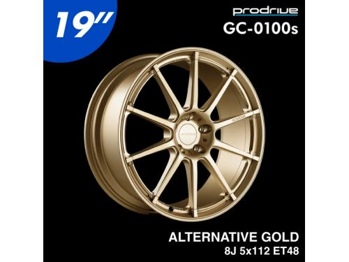 "PRODRIVE GC-0100s 19"" 8J 5x112 ET48 鋁圈 ALTERNATIVE GOLD"