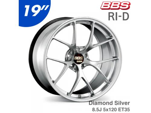 "BBS RI-D 19"" 8.5J 5x120 ET35 鋁圈 Diamond Silver(DS)"
