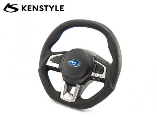 KENSTYLE STEERING WHEEL BLUE STICH C-TYPE 藍線方向盤 SUBARU LEGACY BN 2014-
