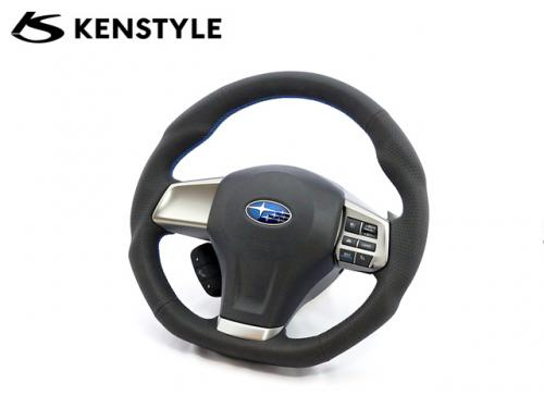 KENSTYLE STEERING WHEEL BLUE STICH A-TYPE 藍線方向盤 SUBARU LEGACY 2009-2014