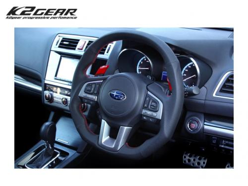 K2GEAR Reiz Sports Steering 360G 紅線方向盤 SUBARU LEGACY BN9 2014-