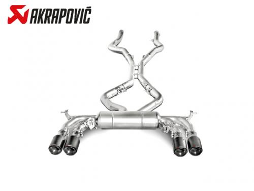 AKRAPOVIC EVOLUTION LINE 中尾段(鈦合金+CARBON尾) BMW F86 X6M 2015-