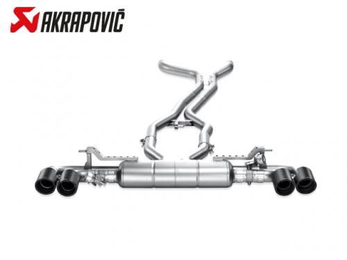 AKRAPOVIC EVOLUTION LINE 中尾段(鈦合金+CARBON尾) PORSCHE 958 CAYENNE TURBO S