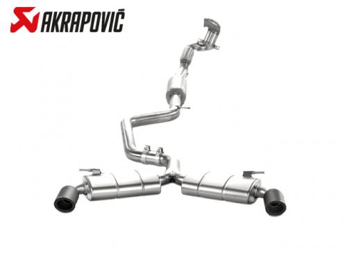 AKRAPOVIC EVOLUTION LINE 中尾段(鈦合金+CARBON尾) VW GOLF GTI VII