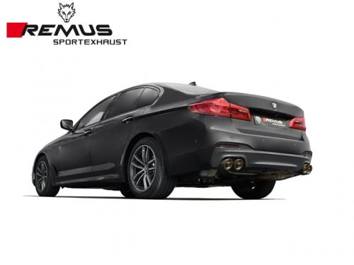 REMUS SPORTS EXHAUST 雙尾段(含尾飾管) BMW G30 540i 2017-