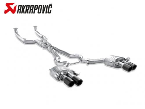 AKRAPOVIC EVOLUTION LINE 中尾段(鈦合金+CARBON尾) BMW F06 M6 GRAN COUPE 2014-