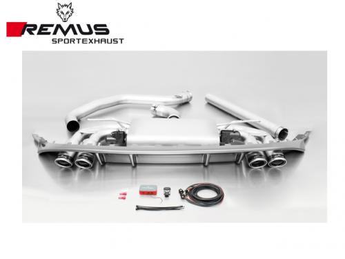 REMUS SPORTS EXHAUST 中尾段(含尾飾管+後CARBON擾流) VW GOLF GTI VII 2015-