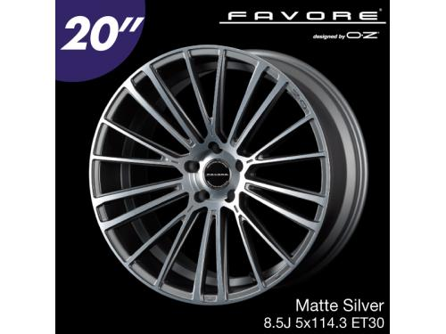 "FAVORE designed by OZ 20"" 8.5J 5x114.3 ET30 Matte Silver"