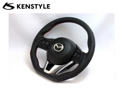 KENSTYLE STEERING WHEEL RED STICH 紅線方向盤 MAZDA3 BM 2014-2017