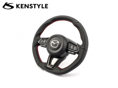 KENSTYLE STEERING WHEEL RED STICH CARBON 紅線方向盤 MAZDA3 BM 2017-