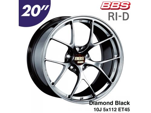 "BBS RI-D 20"" 10J 5x112 ET45 鋁圈 Diamond Black(DB)"